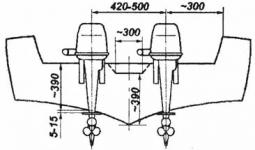 Установка подвесного лодочного мотора 70-140 л.с