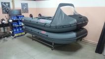 Установка носового тента на лодку ПВХ