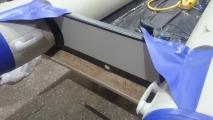 Замена транцевой доски (транца) с оклейкой тканью пвх.