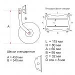 Транцевые колеса Стандарт (ассиметричные)