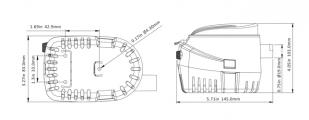 Помпа автоматическая SEA FLO 750 GPH SFBP1-G750-06