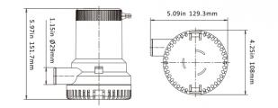 Помпа автоматическая SEA FLO 2000 GPH