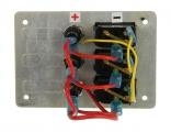 Панель бортового питания 3 переключателя с предохранителями