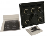 Панель бортового питания,5 клавиш и розетка